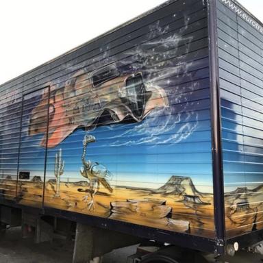Peinture/autocollants sur gros véhicule Type Bus ou Camions