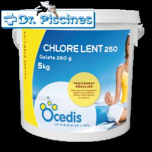 Chlore lent - seau 5kg - Ocedis