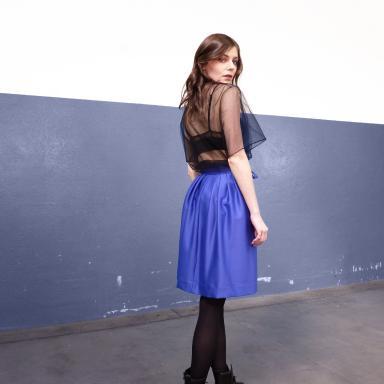 Jupe courte Minimaliste Bleue Lapis
